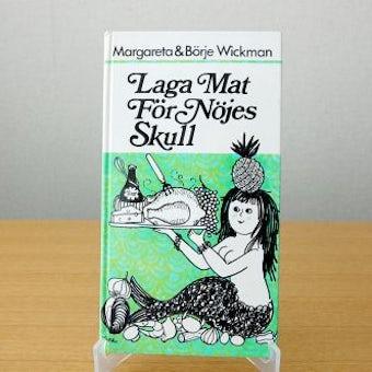 スウェーデンで見つけた古い料理本(人魚の表紙)の商品写真