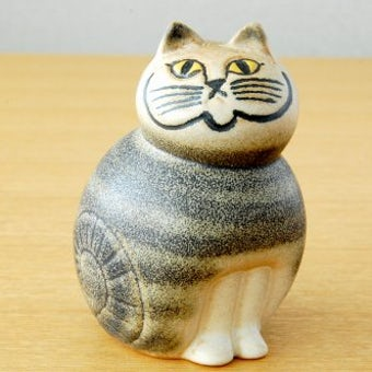 Lisa Larson/リサ・ラーソンデザイン/猫のオブジェ(グレー)の商品写真