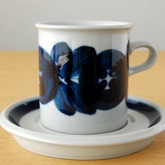 ARABIA/アラビア/ANEMONE/アネモネ/コーヒーカップ&ソーサー(少々難あり)の商品写真