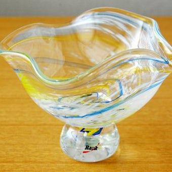 スウェーデンで見つけたらせん模様が美しいガラスの器の商品写真