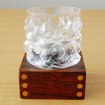 スウェーデンで見つけた木製の台付きガラスのキャンドルホルダー(2)の商品写真