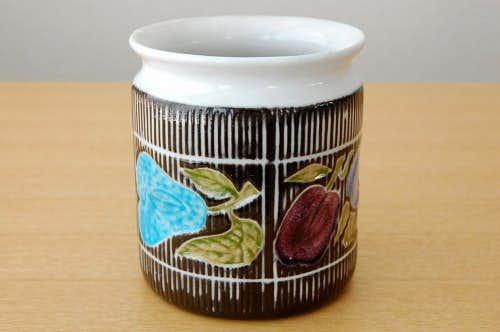 Upsala Ekeby/ウプサラエクビィ/Mari Simmulsonデザイン/果物の模様のジャムポットの商品写真