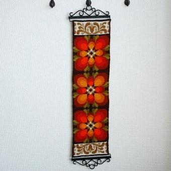 スウェーデンで見つけたタペストリー(レトロなお花模様)の商品写真