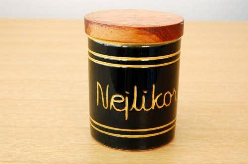 スウェーデンで見つけた木蓋付きスパイスポット/Nejlikor/クローブの商品写真