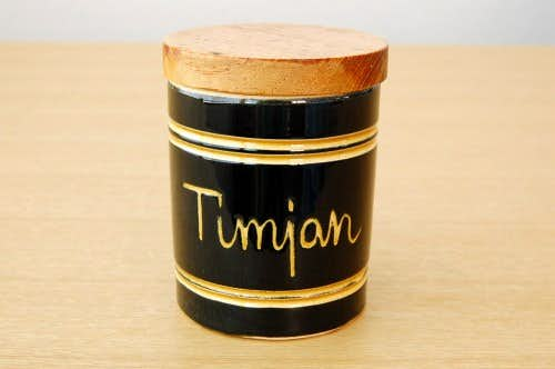 スウェーデンで見つけた木蓋付きスパイスポット/Timjan/タイムの商品写真