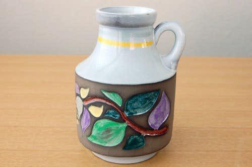 Upsala Ekeby/ウプサラエクビィ/Mari Simmulsonデザイン/持ち手付きの陶器の花瓶の商品写真