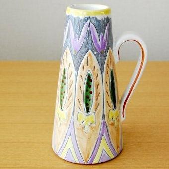 スウェーデン製/LAHOLM/模様が美しい陶器の花瓶の商品写真
