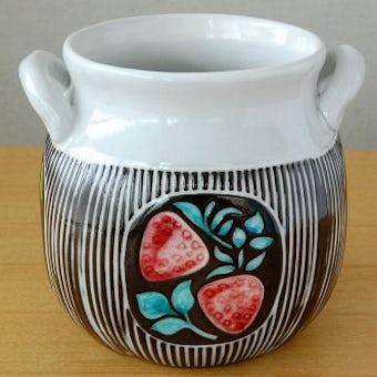Upsala Ekeby/ウプサラエクビィ/Mari Simmulsonデザイン/果物模様の陶器のジャムポットの商品写真