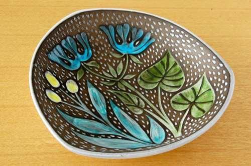 Upsala Ekeby/ウプサラエクビィ/Mari Simmulsonデザイン/陶器の深皿の商品写真