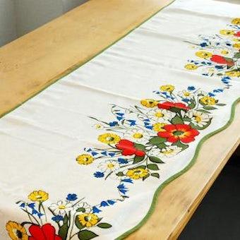 スウェーデンで見つけたカフェカーテン(野の花)の商品写真