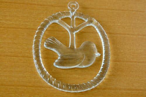 スウェーデンで見つけた小鳥モチーフのガラスの壁飾りの商品写真