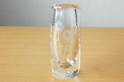 スウェーデンで見つけたガラスの一輪挿し(ヒマワリ)の商品写真