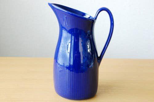 Upsala Ekeby/ウプサラエクビィ/美しいフォルムの陶器のピッチャー(ブルー)の商品写真