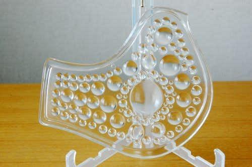 デンマークで見つけたガラス製の小鳥モチーフのオーナメントの商品写真