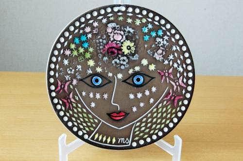 Upsala Ekeby/ウプサラエクビイ/Mari Simmulson/マリ・シミュルソン/陶板の壁掛け(美しい女性)の商品写真