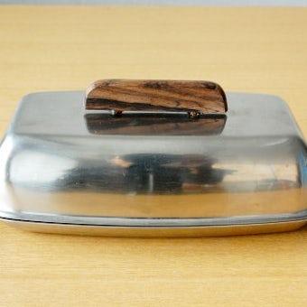 デンマーク製/ステンレス製バターケースの商品写真