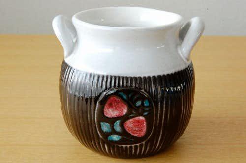 Upsala Ekeby/ウプサラエクビィ/Mari Simmulsonデザイン/陶器のジャムポットの商品写真