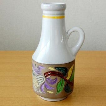 Upsala Ekeby/ウプサラエクビィ/Mari Simmulsonデザイン/お花模様の陶器の花瓶の商品写真