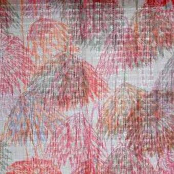 スウェーデンで見つけた優しい雰囲気のヴィンテージカーテン2枚セット(ピンク)の商品写真