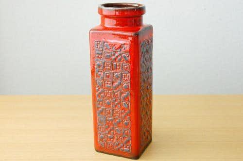 デンマークで見つけた陶器の花瓶(レッド)の商品写真