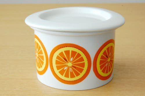 ARABIA/アラビア/POMONA/ポモナ/ジャムポット/オレンジの商品写真