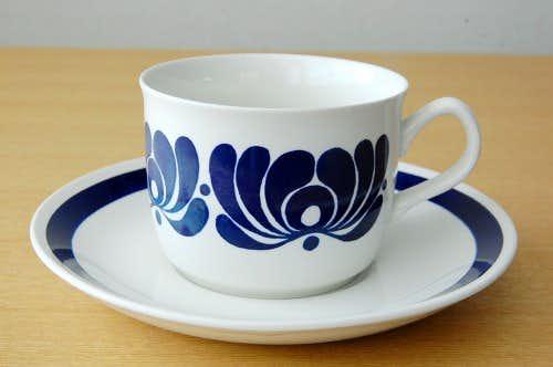ノルウェー/EGERSUND/コーヒカップ&ソーサー(僅かに難あり)の商品写真