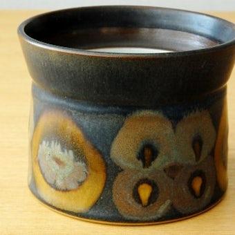 デンマークで見つけた陶器のポット(ブラウン・蓋なし)の商品写真