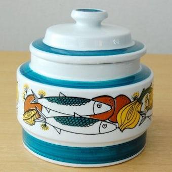 ノルウェー/STAVANGERFLINT/陶器のキャニスター(魚と野菜)の商品写真