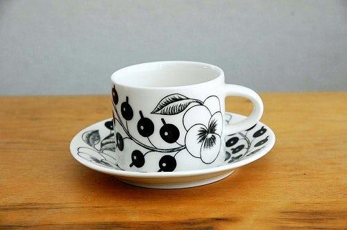【次回入荷未定】ARABIA/アラビア/PARATIISI/パラティッシBK/コーヒーカップ&ソーサーの商品写真