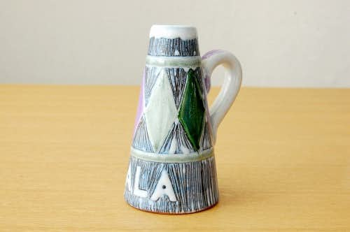 スウェーデン製/LAHOLM/絵付けが美しい小さな一輪挿しの商品写真