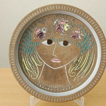 Upsala Ekeby/ウプサラエクビィ/Mari Simmulsonデザイン/陶器の絵皿(大)の商品写真
