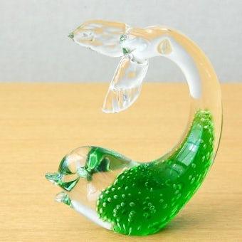 スウェーデンで見つけたガラスのオブジェ(魚)の商品写真