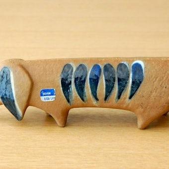GUSTAVSBERG/グスタフスベリ/Lisa Lason/リサ・ラーソン/LILLA ZOO/陶器のオブジェ(ダックスフンド)の商品写真