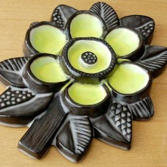 Upsala Ekeby/ウプサラエクビィ/陶板の壁掛け(黄色いお花)の商品写真