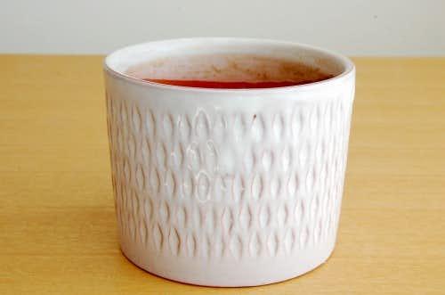 Upsala Ekeby/ウプサラエクビィ/Mari Simmulson/陶器の植木鉢(ホワイト・大)の商品写真