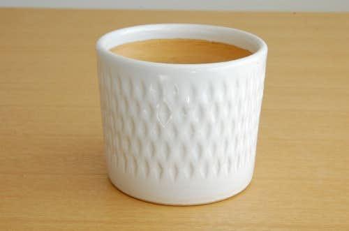 Upsala Ekeby/ウプサラエクビィ/Mari Simmulson/陶器の植木鉢(ホワイト・小)の商品写真