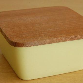 GEFLE(Upsala Ekeby)/陶器のバターケース(イエロー)の商品写真