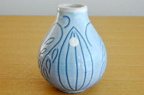 スウェーデン/GABRIEL釜/陶器の一輪差し(すみれ色)の商品写真
