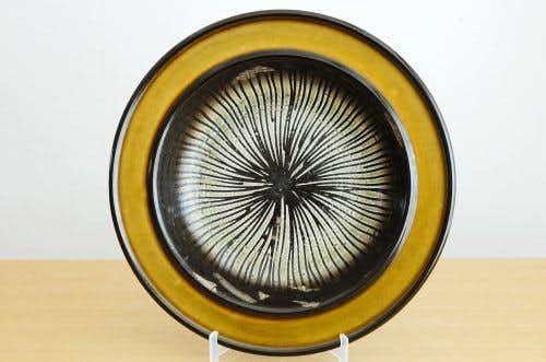 Upsala Ekeby/ウプサラエクビィ/Mari Simmulson/陶器の大皿(ブラウン)の商品写真