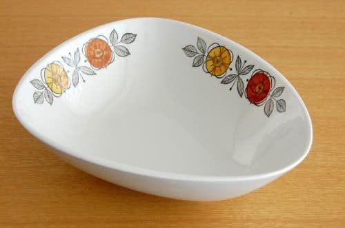 Rorstrand/ロールストランド/陶器のボウル(ブラウンのお花・三角形)の商品写真
