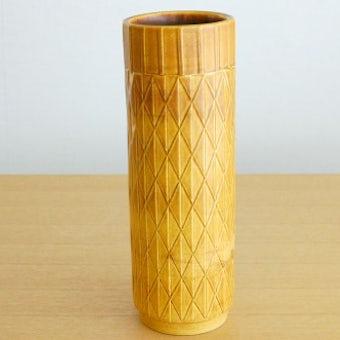 RORSTRAND/ロールストランド/Gunnar Nylundデザイン/陶器の花瓶(マスタードイエロー)の商品写真