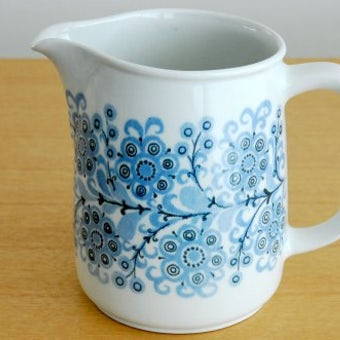 ARABIA/アラビア/ピッチャー(ブルーのお花)の商品写真