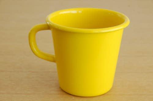 デンマークで見つけたホーロー製マグカップ(イエロー)の商品写真