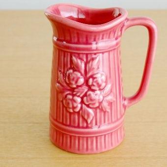 スウェーデンで見つけたお花モチーフのピッチャー(ピンク)の商品写真