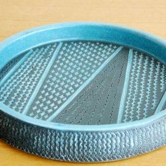 Upsala Ekeby/ウプサラエクビイ/Mari Simmulsonデザイン/陶器の大皿(ブルーグレイ)の商品写真