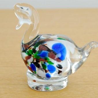 スウェーデンで見つけたガラスの白鳥オブジェの商品写真