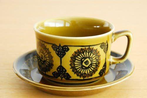 ノルウェー/STAVANGERFLINT/ティーカップ&ソーサー(オリーブグリーン)の商品写真
