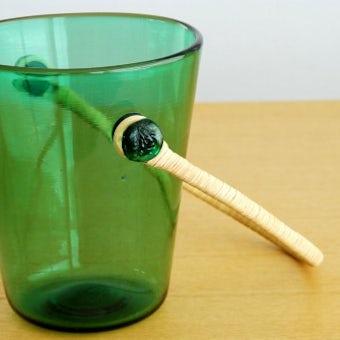 スウェーデンで見つけた美しいガラスのアイスペール(グリーン)の商品写真