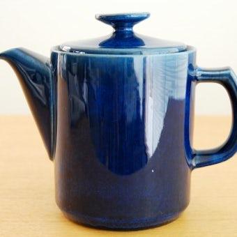 デンマークで見つけた陶器のコーヒーポット(ブルー)の商品写真