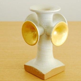 これはレア!Lisa Larson/リサ・ラーソン/陶器のキャンドルホルダーの商品写真
